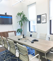 conference room with flatscreen television